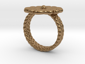 Floral Ring - Size 7 in Natural Brass