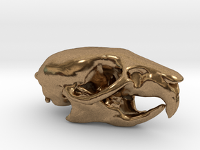 Rat skull pendant  in Natural Brass