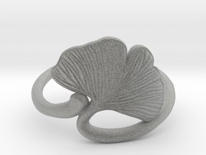 Ginkgo Leaf ring in Metallic Plastic