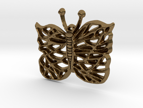 Butterfly Pedant in Natural Bronze