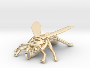 Yellow Jacket Pendant in 14k Gold Plated Brass