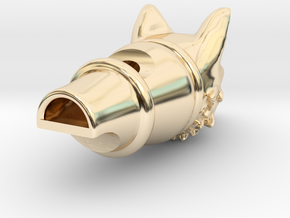 Silver Fox Whistle in 14K Yellow Gold