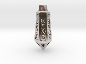 Crystal Ornament Pendant in Platinum