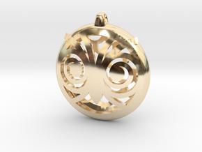 Hypno Owl Pendant in 14K Yellow Gold