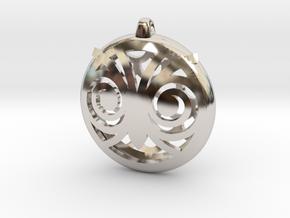 Hypno Owl Pendant in Platinum