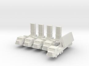 1/285 Arrow 2 Anti Ballastic Missile System (x4) in White Natural Versatile Plastic