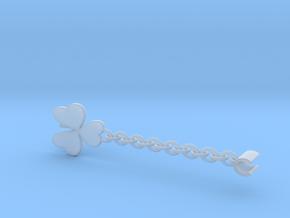 Earpod Earrings   Shamrocks in Smooth Fine Detail Plastic