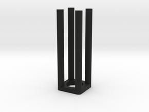 Epi Tube Holder/adapter for fluorometer cuvette in Black Strong & Flexible