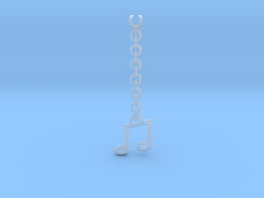 Earpod Earrings | Musical Notes in Smooth Fine Detail Plastic