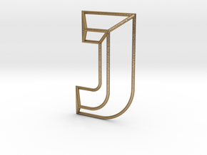 J Typolygon in Polished Gold Steel