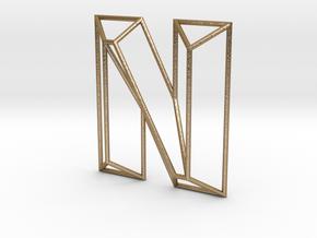 N Typolygon in Polished Gold Steel