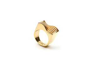 Sine Wave in 18K Gold Plated