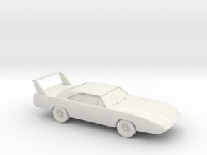 1/87 1970 Plymouth Roadrunner Superbird in White Natural Versatile Plastic