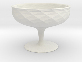 Simple Cup - Twisted in White Natural Versatile Plastic