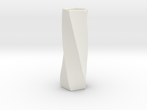 Simple Flower Vase in White Natural Versatile Plastic