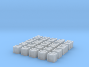 20 Small Crates for 6mm, 1/300 or 1/285 in Frosted Ultra Detail