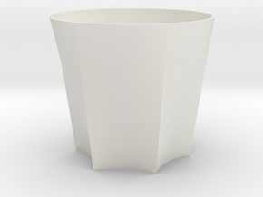 Scalloped Tumbler in White Strong & Flexible