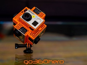 go360hero: GoPro 360x180 360 Video Camera Mount -  in Orange Processed Versatile Plastic