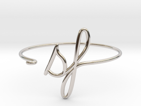 SF Wire Bracelet (San Francisco) in Rhodium Plated Brass