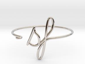 SF Wire Bracelet (San Francisco) in Rhodium Plated Brass