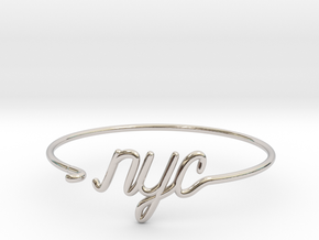 NYC Wire Bracelet (New York City) in Rhodium Plated Brass