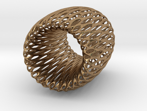 Torus Pendant in Natural Brass