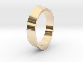 Distorted ring in 14k Gold Plated Brass