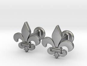 'Firenze' (fleur de lys) Cufflinks in Natural Silver