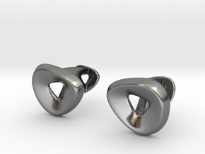 Triangle Halo Cufflinks in Polished Silver