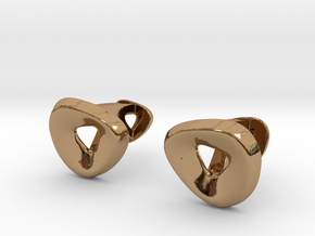 Triangle Halo Cufflinks in Polished Brass