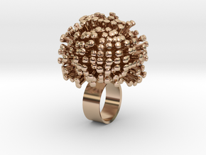 Dandy Ring in 14k Rose Gold Plated Brass