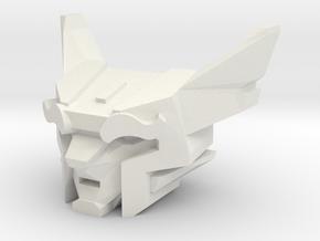 Feral Building Leader for Print (5mm port) in White Natural Versatile Plastic