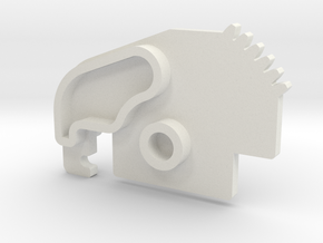 Saitek Rudder Pedals - replacement toe brake cog in White Natural Versatile Plastic