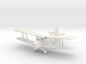 1/144 de Havilland DH82 Tiger Moth (alt. Tail) in White Natural Versatile Plastic