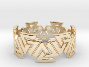 Valknut Ring. Sizes available  in links below. in 14k Gold Plated Brass