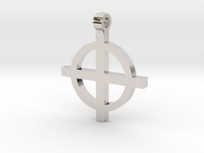 Suncross#1 in Rhodium Plated Brass