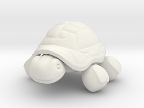 Tortoise in White Natural Versatile Plastic