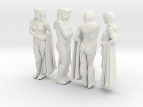 classic female statue 4 views in White Natural Versatile Plastic