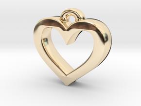 Heart Frame Pendant in 14K Yellow Gold