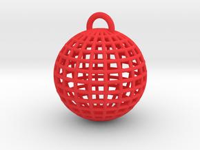 Globe Key Chain in Red Processed Versatile Plastic