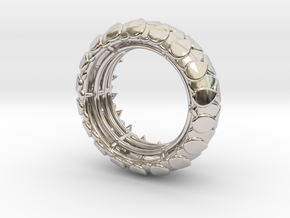 LEAFY Ring  in Rhodium Plated Brass: Small