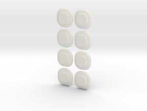 Minen XO in White Natural Versatile Plastic