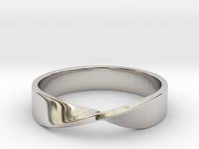 Mobius Ring (Size 7) in Platinum