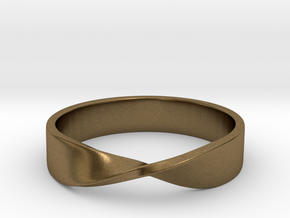 Mobius Ring (Size 7) in Natural Bronze