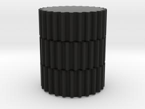 Gears Pencil Holder in Black Natural Versatile Plastic