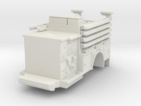 1/87 FDNY Pumper KME Rear in White Natural Versatile Plastic