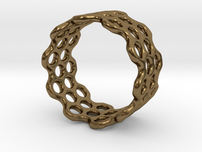 Dots Ring (Size 7) in Natural Bronze