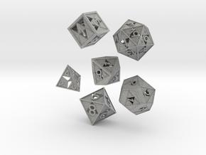 Triforce dice 6 piece set in Metallic Plastic