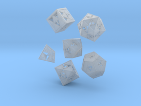 Triforce dice 6 piece set in Smooth Fine Detail Plastic