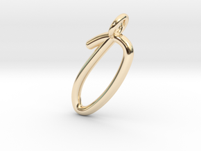 O in 14k Gold Plated Brass